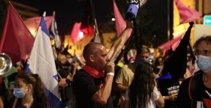 بالصور: استمرار التظاهرات المطالبة باستقالة نتنياهو