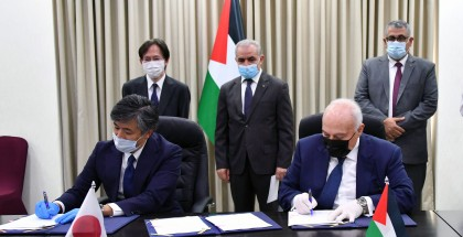 اشتية: توقيع اتفاقيتي دعم ياباني بقيمة 33 مليون دولار للمخيمات وبناء مدارس