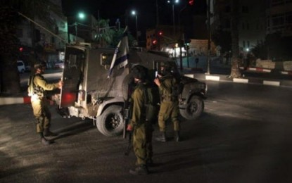 الاحتلال يعتقل ثلاثة شبان من سبسطية