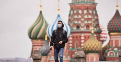 روسيا: 370 وفاة جديدة بفيروس كورونا ومعدل الإصابات تجاوز الـ 8000