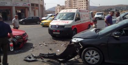 ثلاث إصابات بحادث سير في غزة
