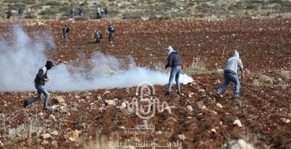 إصابة خمسة مواطنين أثناء مواجهات مع الاحتلال بالضفة