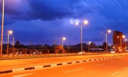 أجواء المنخفض الجوي الذي يضرب قطاع غزة