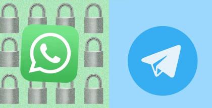 تطبيق واتساب يصبح أكثر أمانا من تيليجرام