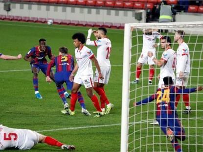 سلاح متأخر ينقذ برشلونة من ضياع لقب جديد