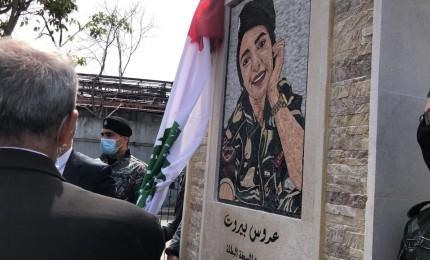 """لبنان.. """"نصب تذكاري لأول شهيدة أنثى"""" على مدخل بيروت"""