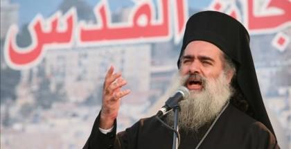 المطران حنا: القدس في خطر كبير والاحتلال يسعى لطمس هويتها