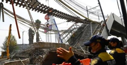 ارتفاع حصيلة ضحايا حادثة جسر المترو في المكسيك إلى 26 قتيلاً