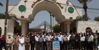 فصائل المقاومة الوطنية ينظمون وقفة تضامنية مع أهالي القدس المحتلة