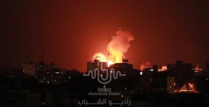 طائرات الاحتلال تشن أكثر من 30 غارة  على شمال قطاع غزة