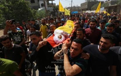 بالصور.. الآلاف يشيعون شهداء غزة جراء قصف الاحتلال المتواصل على القطاع