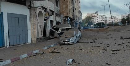 الاحتلال يستهدف شقتين في برج السوسي وسط مدينة غزة