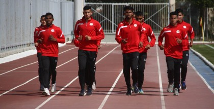 منتخب فلسطين لألعاب القوى يستعد للمشاركة في البطولة العربية 22