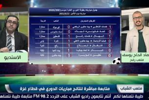 برنامج ملعب الشباب || متابعة مباشرة لنتائج مباريات الدوري في قطاع غزة || ليوم الإثنين 21 6 2021