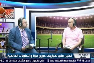 تحليل فني لمباريات دوري غزة والبطولات العالمية الكورة في ملعبك