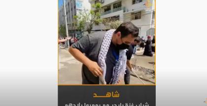 شاهد.. شباب غزة بأيديهم يعمروا بلادهم