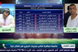 برنامج ملعب الشباب || متابعة مباشرة لنتائج مباريات الدوري في قطاع غزة || ليوم الإثنين 5-7-2021