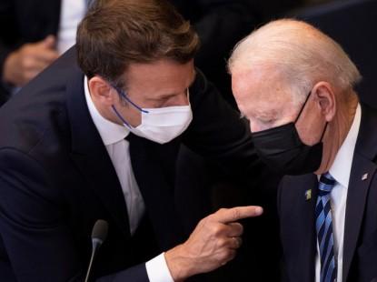 اتصال جديد بين بايدن وماكرون وهاريس ستزور باريس لبحث التعاون بينهما
